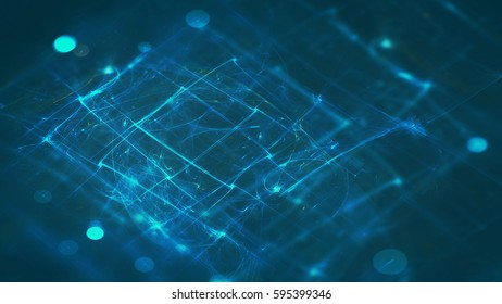 futuristic technology background with glowing lines