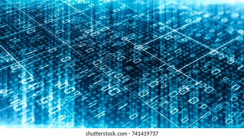 Futuristic technology digital blue lines and light. Abstract future information background. Modern concept.