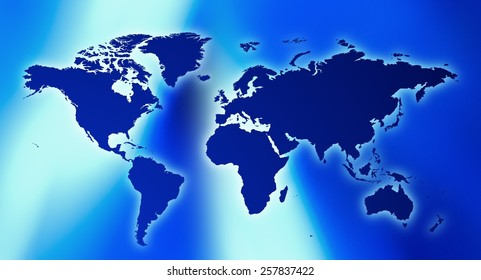 Globe world map on blue background stock illustration 26731606 futuristic technology world map blue background gumiabroncs Gallery