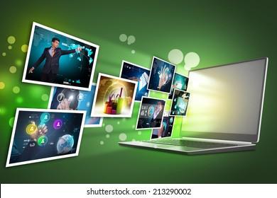 Futuristic touch screen display