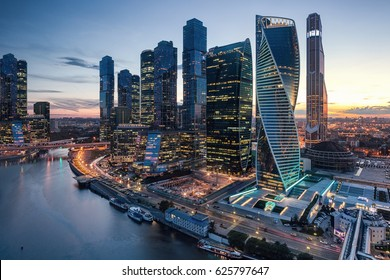 Futuristic view of the Moscow International Business Center