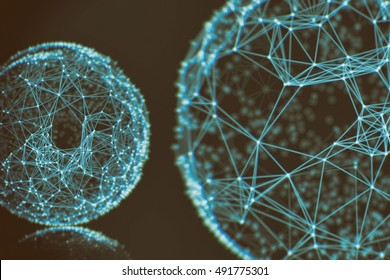 Futuristic virtual connection world network technology background, Fiber virtual optic cables, fibre connection, telecomunications concept, digitally generated image.
