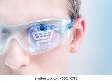 Futuristic virtual shopping