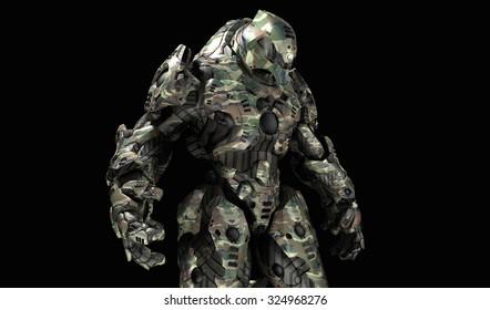 Futuristic war machine