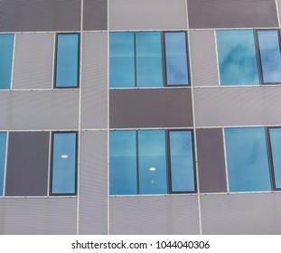 futuristic windows on modern building