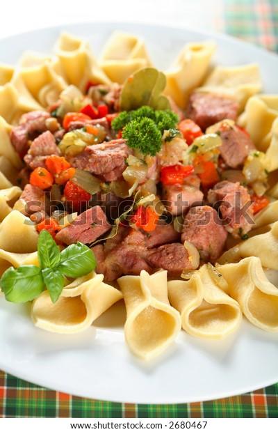 Fuzi with pork