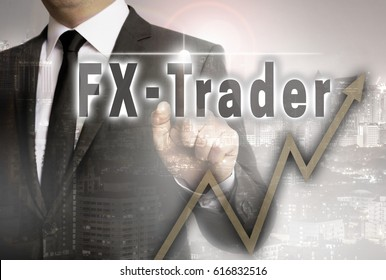 FX trader is shown by businessman concept.