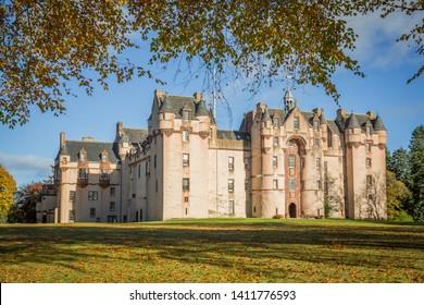 Fyvie castle in autumn, Aberdeenshire, Scotland