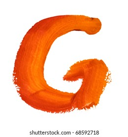 G - Color letters isolated over the white background