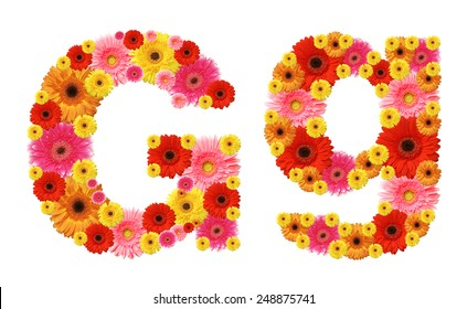 g, flower alphabet