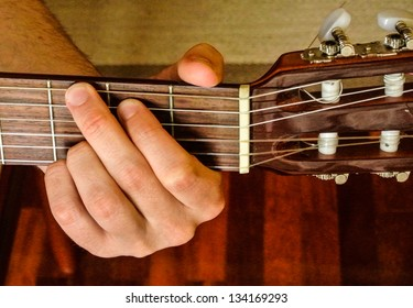 G Mayor position on a classical guitar