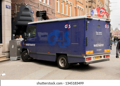 G4S Company Truck At Amsterdam The Netherlands 2019