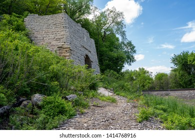 The G.A. Carlson Lime Kiln, in Red Wing Minnesota, in the Barn Bluff hiking area