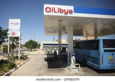 GABES,TUNISIA - SEPTEMBER 17: Oilibya is a pan-African energy group.OiLibya companies operate in 19 African countries. OiLibya Gas station on September 17, 2012 in Gabes, Tunisia.