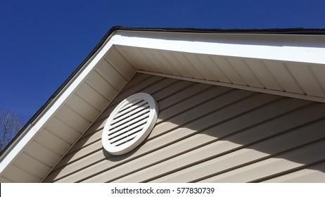 Gable ventilation on a house.