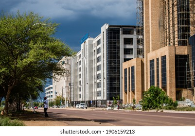 Gaborone, Botswana - November 24 2020: Ministry of Youth Empowerment, Sport and Culture Development Buildings In Gaborone Central Business District
