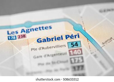 Gabriel Peri Station. 13th Line. Paris. France