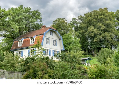 Gabriele Münter House with Garden and trees in Murnau Bavaria, Germany