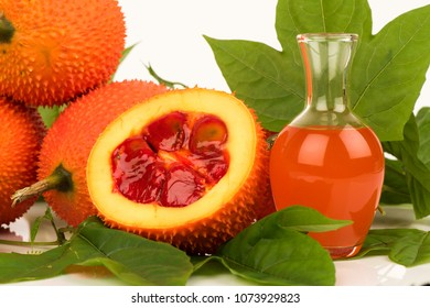 Gac fruits,fruits of Thailand have medicine properties and  DIY infused with oil for facial oil treatment.