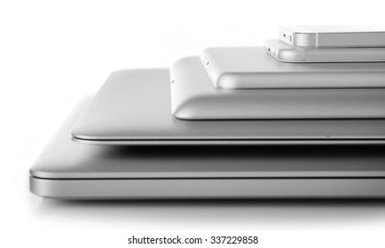 Gadgets on a table