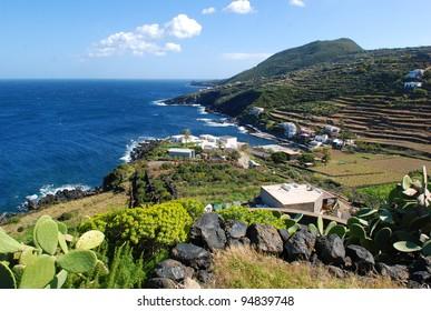 Gadir coast in Pantelleria