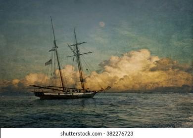The Gadspey,   ship at sea