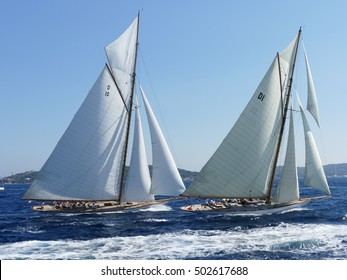 The Gaff Cutter has a mainsail with four-side with a usually wooden spar, known as the gaff, along its head. There are two or more head-sails.