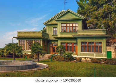 GAGRA, ABKHAZIA - OCTOBER 4, 2014: Stalin's dacha, settlement Cold river.