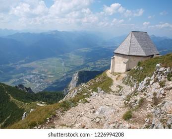 Gailtal Alps, view from the hiking trail on the mountain Dobratsch, Carinthia, Austria