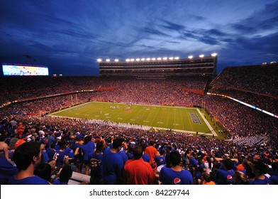 GAINESVILLE, FL - SEPT. 3: Over 80,000 people attend the UF home opening game as the Gators host the Florida Atlantic in Ben Hill Griffin Stadium on September 3, 2011 in Gainseville, Florida.