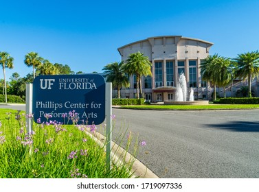 Gainesville, Florida / USA - April 30 2020: Phillips Center for Performing Arts in University of Florida.