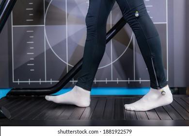 Gait or walking speed biometric analysis on a treadmill