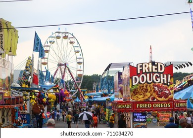 Gaithersburg, MD - August 11, 2017: A view of the annual Montgomery County Agricultural Fair.