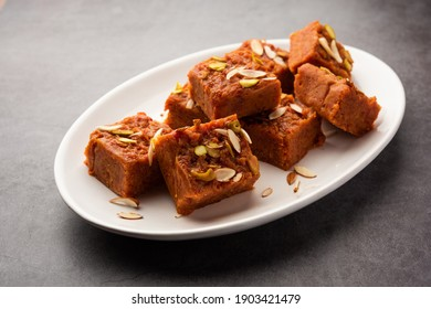 Gajar Halwa Barfi or Carrot pudding barfee is a popular Indian sweet dish