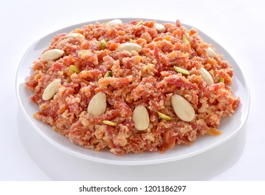 Gajar Halwa, Carrot Pudding Made by Milk, Fresh Carrots and Sugar.