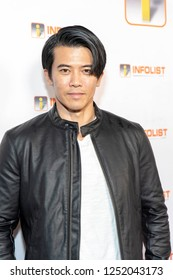 Gaku Space attends INFOList.com Red Carpet Re-Launch Party & Holiday Extravaganza! at SKYBAR at the Mondrian Hotel, Los Angeles, California on December 5th, 2018