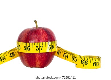 gala apple with measure tape, picture is saved with work path selection