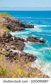 Galapagos Islands. Landscape of the Galapagos Islands. Cliffs stretching into the ocean
