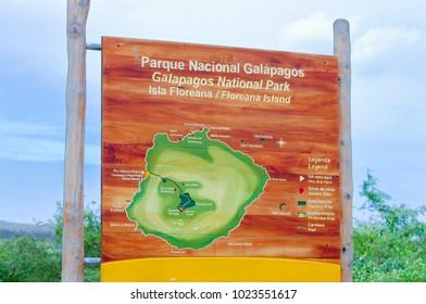 Galapagos National Park Sign - Ecuador