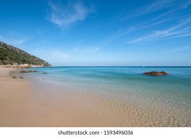 Galapinhos beach in the natural park  Arrabida, Setubal , Portugal