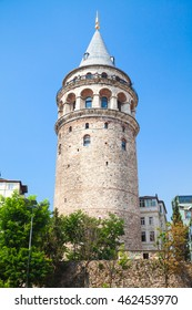Galata tower, one of the most popular landmarks of Istanbul, Turkey