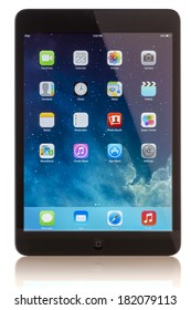 GALATI, ROMANIA, JANUARY 23, 2014: - iPad mini is powered by the new A7 chip with 64-bit architecture. Galati, Romania, January 23, 2014