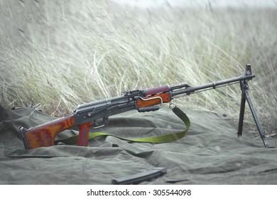 GALATI, ROMANIA - OCTOBER 8: 7.62 mm caliber semiautomatic rifle Romanian in Romanian military polygon in the exercise Smardan Danube Express 14 on Galati, Romania, 8 october 2014.
