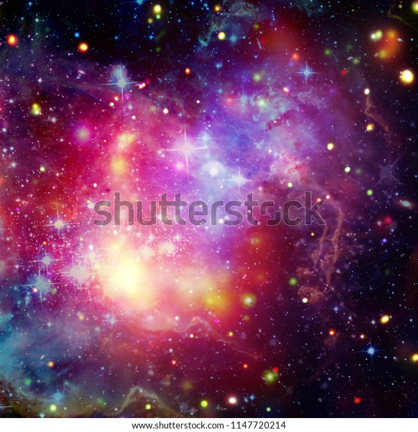 Galaxies and nebula in deep space. Star cluster. The elements of this image furnished by NASA.