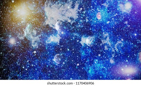 Galaxies, nebulas and stars in universe. Elements of this image furnished by NASA