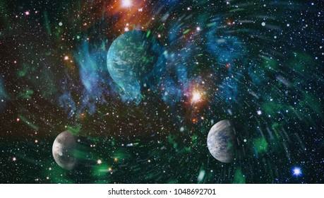 Galaxies in Outer Space Showing the Beauty of Space exploration. Planet Texture furnished by NASA