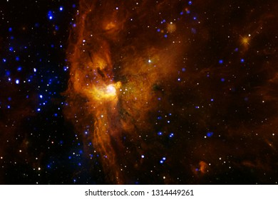 Galaxies, stars and nebulas in awesome space image. Colorful science fiction wallpaper. Elements of this image furnished by NASA.