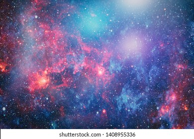 galaxy background with nebula, stardust and bright shining stars. Elements of this image furnished by NASA.