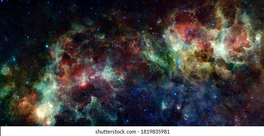 Galaxy cluster. Elements of this image furnished by NASA.