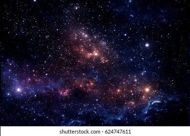 The galaxy is colorful in darkness